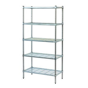 Mantova Zinc & Lacquer w Wire 3 Tier 1200H 1200X450mm