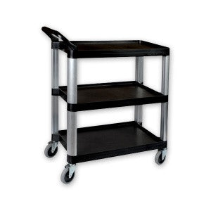Economy Trolley-Plastic 3-Tier Small Black