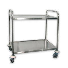 "Trolley Stainless Steel 5"" Casters 2 Shelf 855X535X940mm"