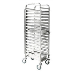 Gastronom Trolley Stainless Steel 1/1 - 16 Trays