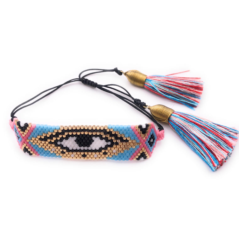 Miyuki Multicolor Evil Eye Boho Bracelet for Women