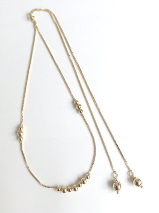Lariat Y Necklace - Gold Lariat Necklace - Bolo chain