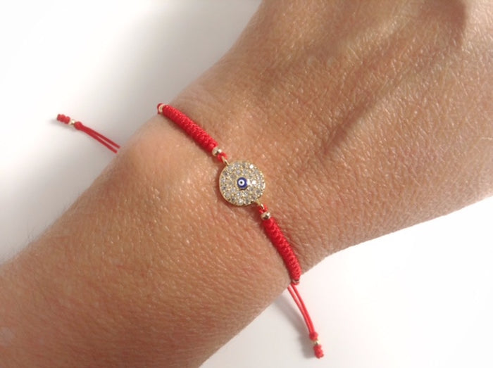 Red String Evil Eye Bracelet Kabbalah Jewelry