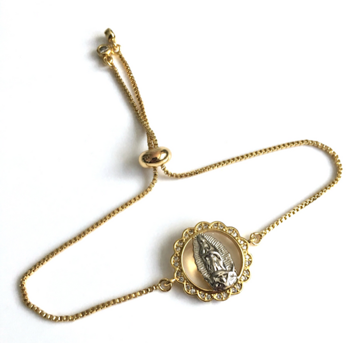 Our Lady of Guadalupe Gold Plated Bracelet for Women