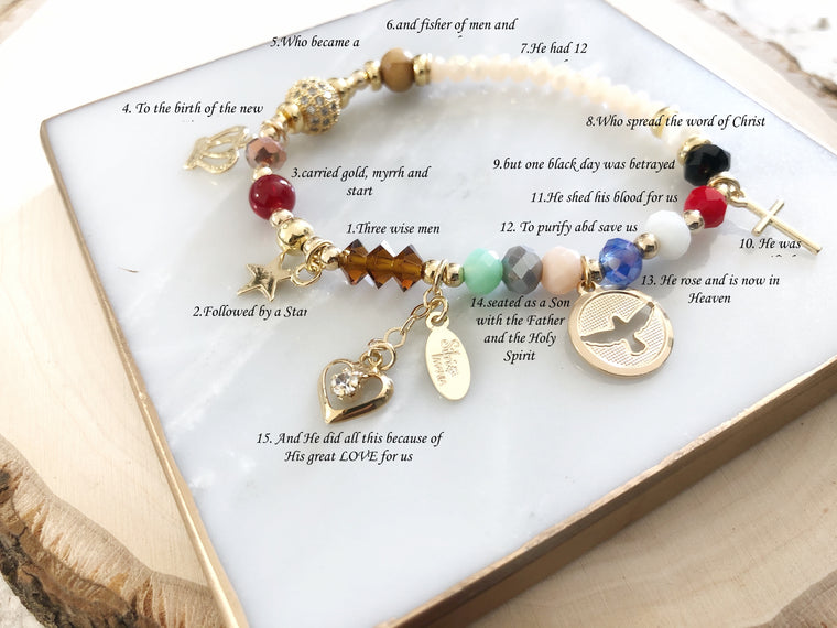 Life of Jesus Bracelet, Christ Story Stretch Bracelet, Biggest Love Story