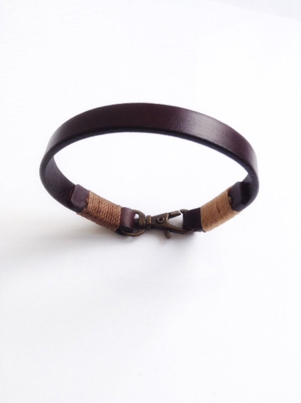 mens bracelet leather