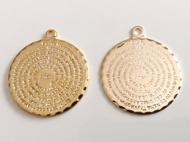 Our father prayer medal