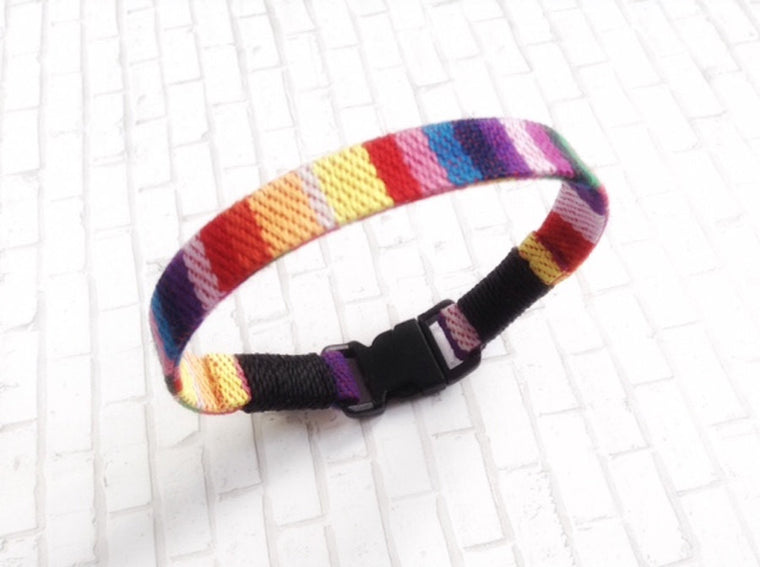 Gay Pride Bracelet - Fabric Rainbow Bracelet - Flag lgbt Gifts