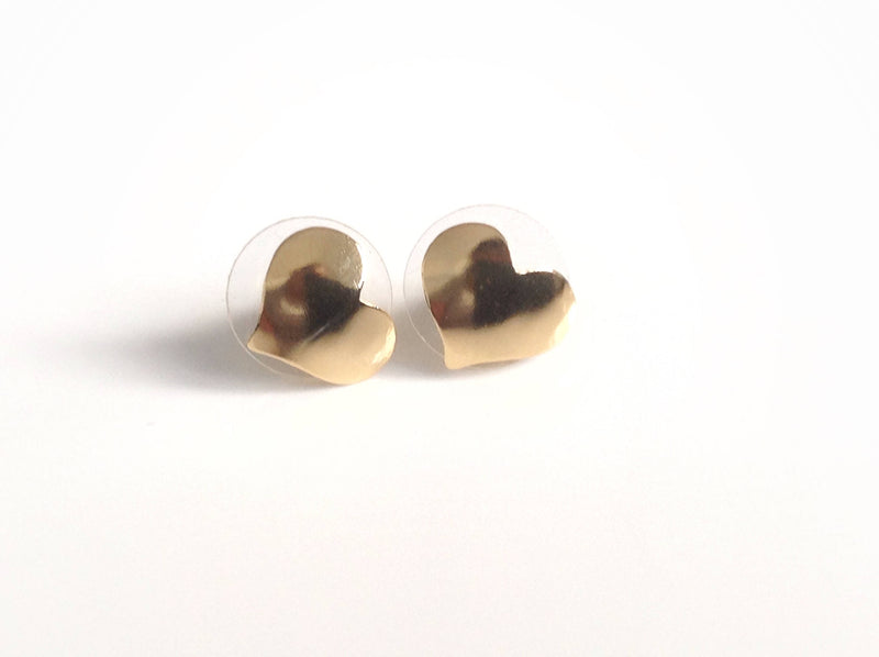 Small stud earrings minimalist everyday simple earrings, post earrings gold, post earrings for girls dainty earring miniature heart earrings
