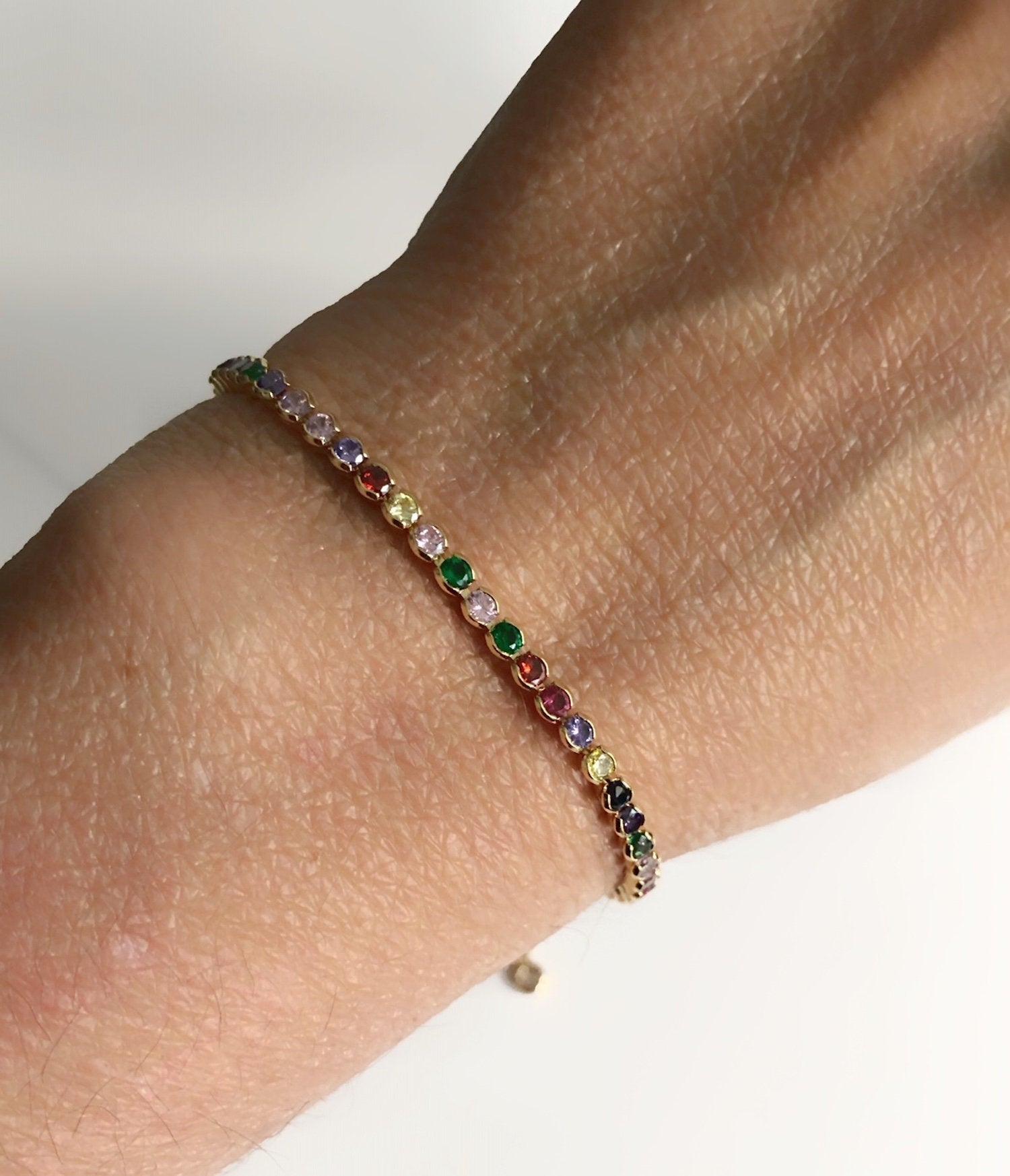 multi color dainty bracelet