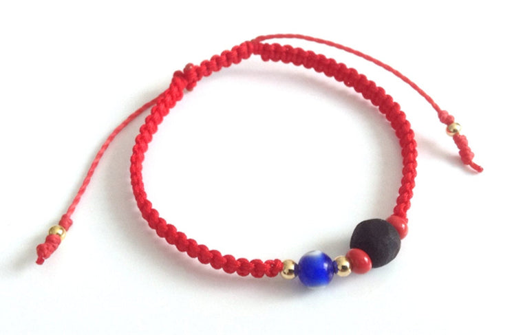 Red String Genuine Azabache Bracelet for Toddlers Pulsera Mal de ojo