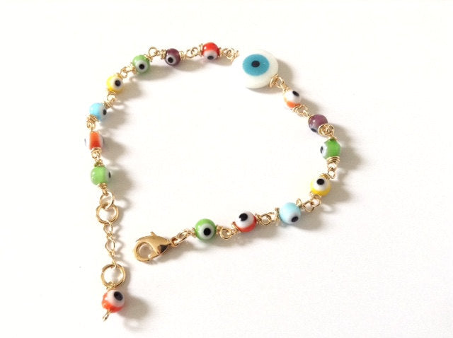 Colorful Evil Eye Glass Beads