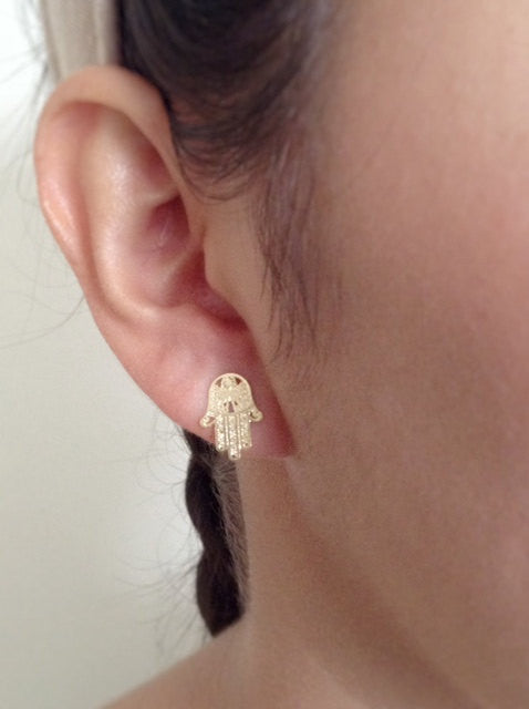hamsa studs earrings