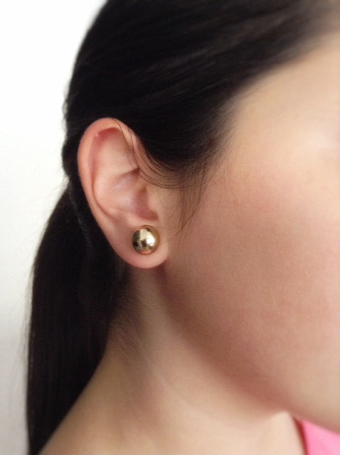 Ball stud Earrings - Gold Plated Everyday earrings