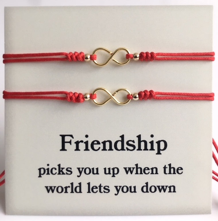 Couples Bracelet Red String Infinity Symbol - Set of 2 Bracelets
