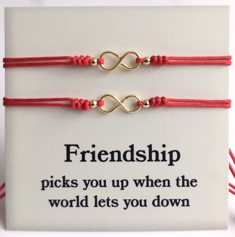 Couples Bracelet Red String Infinity Symbol Set Of 2 Bracelets