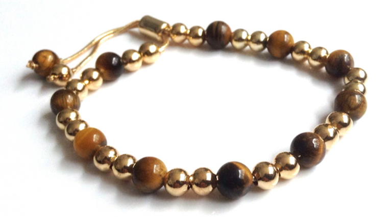 Tigers Eye Meditation Bracelet Adjustable
