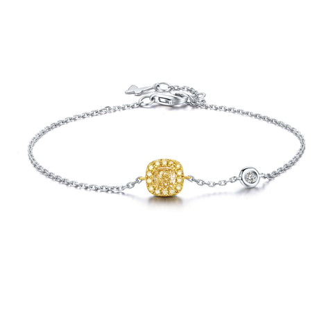 Coronation collection 18k white & yellow gold diamond bracelet