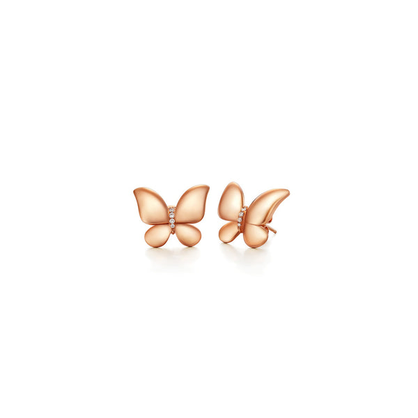 Butterfly collection 18k gold diamond earrings