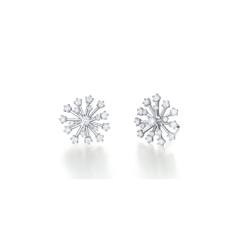 Pappus collection 18k gold diamond earrings
