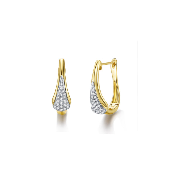 Wisdom collection 18k gold diamond earring