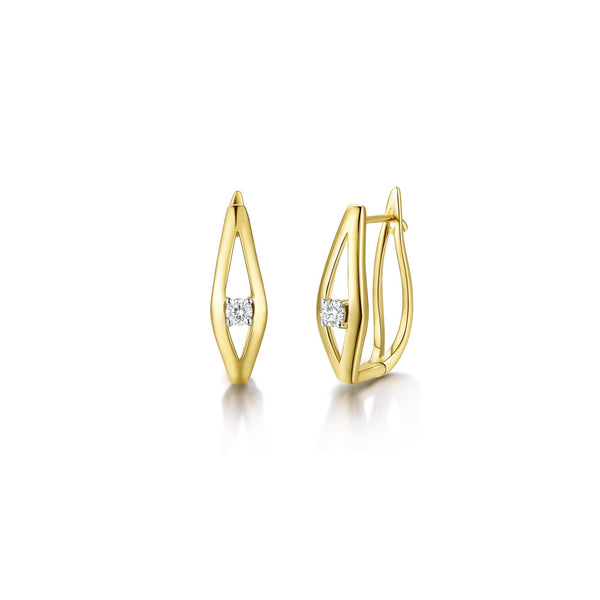 Wisdom collection 18k gold diamond earrings