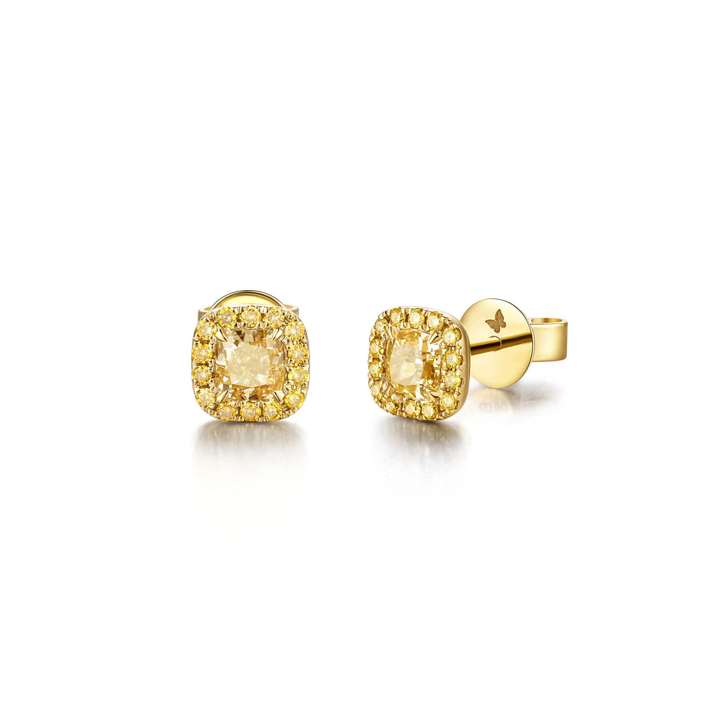 Coronation collection 18k yellow gold yellow diamond earrings