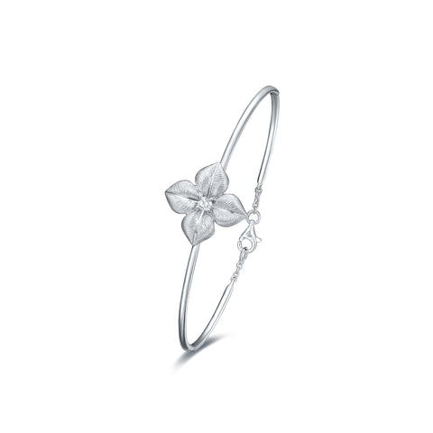 Blossoming collection 18k gold diamond bangle