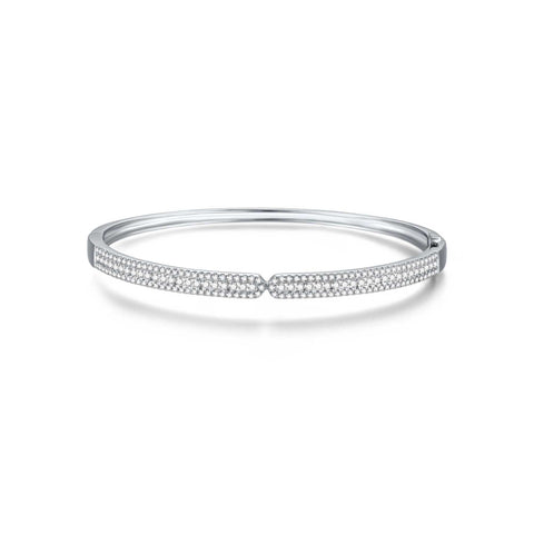 Architecture collection 18k white gold diamond bangle