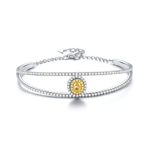 Coronation collection 18k white  & yellow gold diamond bangle