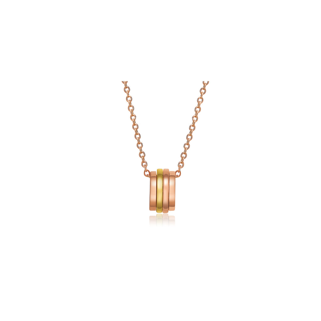 Ripple collection 18k rose & yellow gold necklace