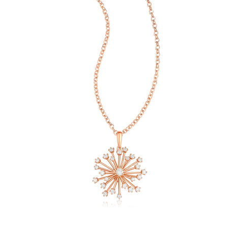 Pappus collection 18k gold diamond necklace