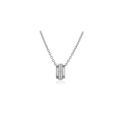 Ripple collection 18k gold diamond necklace
