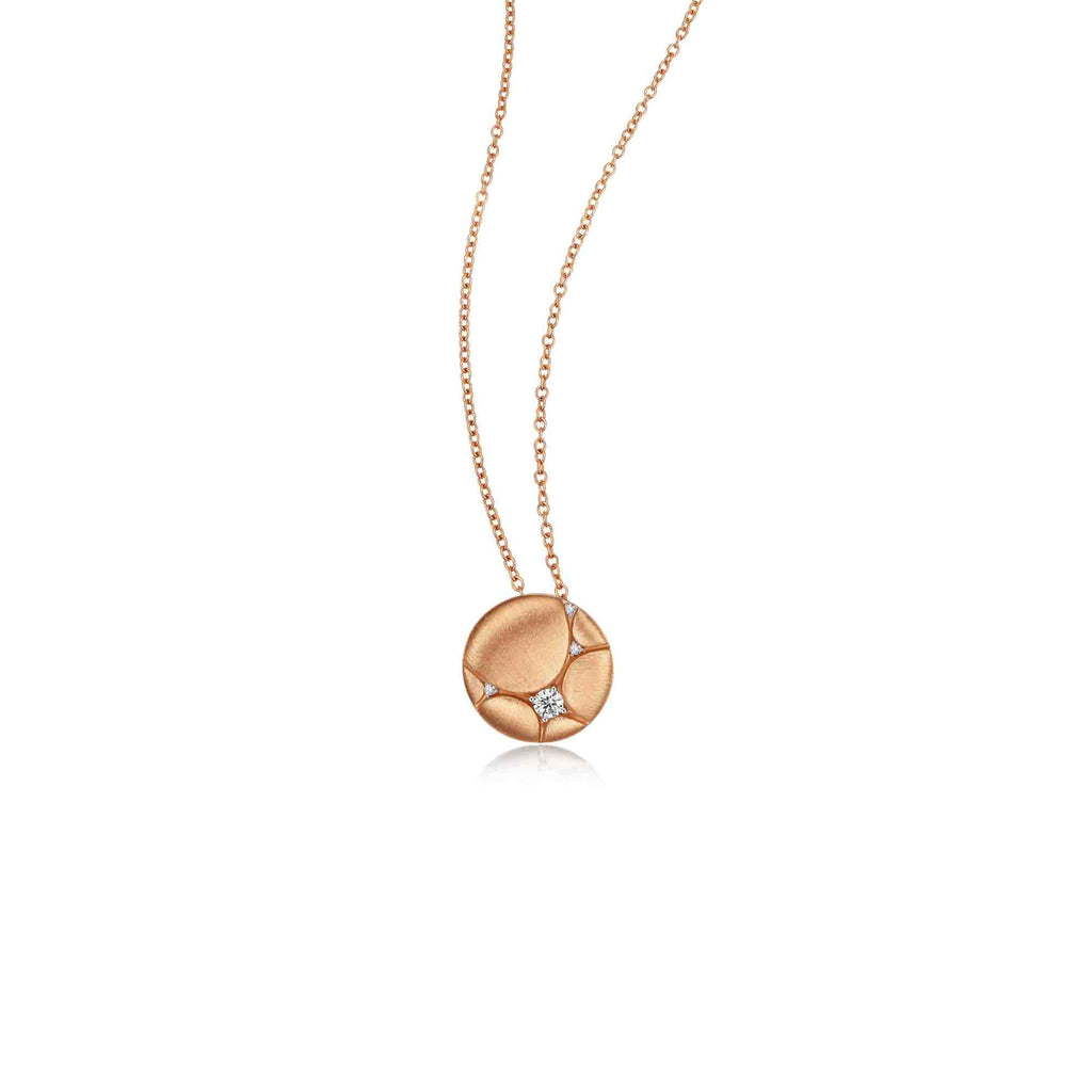 Architecture collection 18k rose gold diamond necklace