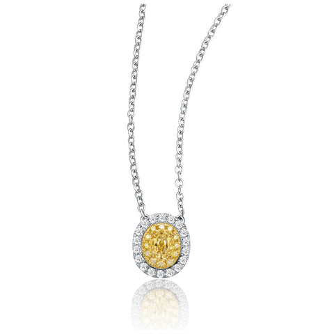 Coronation collection 18k white & yellow gold diamond necklace