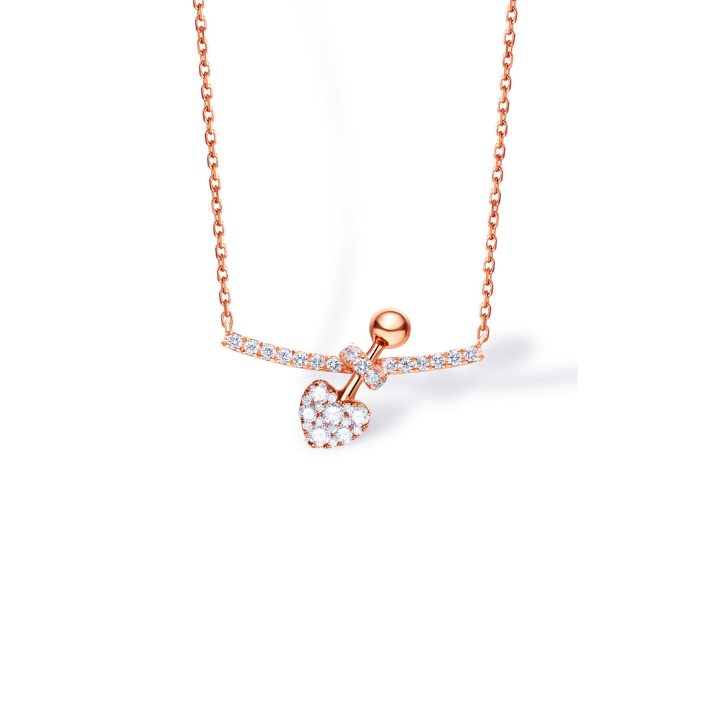 Julius collection 18k gold diamond necklace