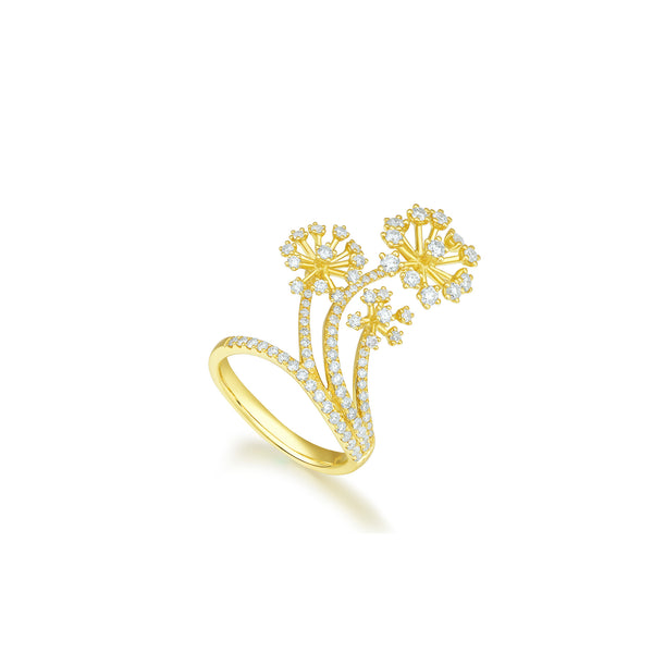 Pappus collection 18k gold diamond ring