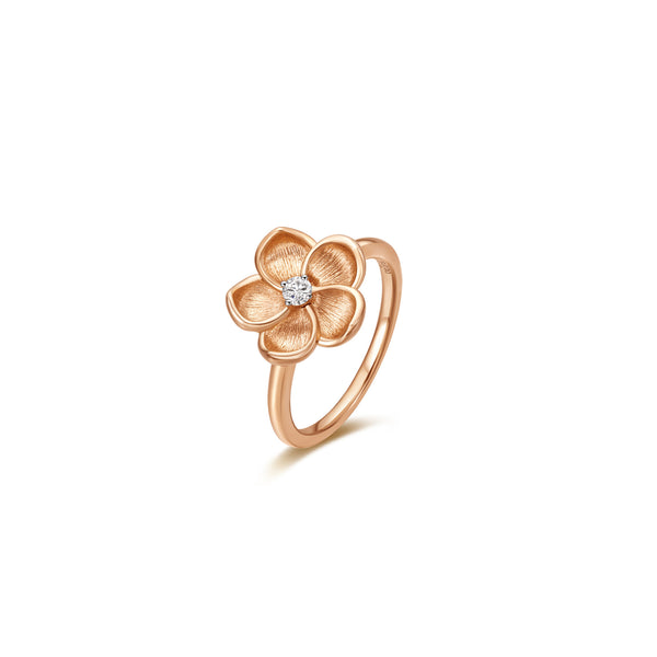 Blossoming collection 18k gold diamond ring