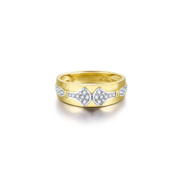 Wisdom collection 18k gold diamond ring