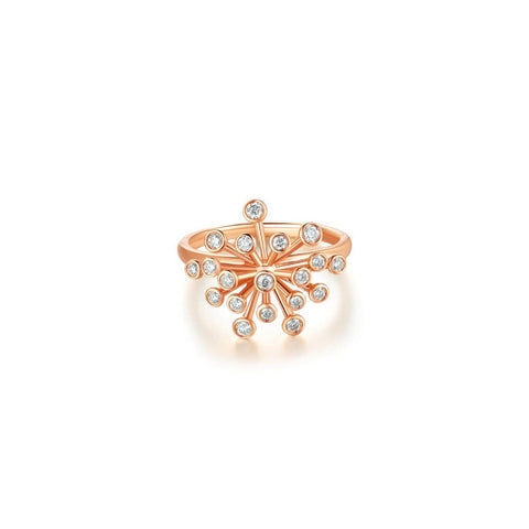 Pappus collection 18k rose gold diamond ring