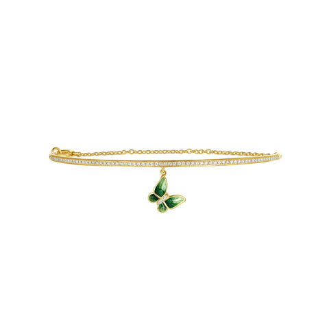 Enamel collection 18k gold diamond bracelet