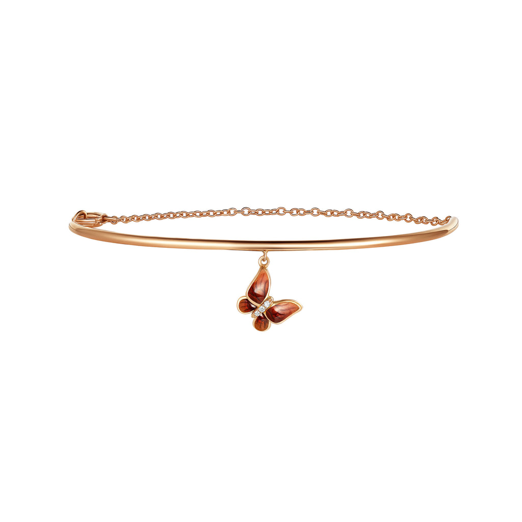 Enamel collection 18k rose gold diamond bracelet