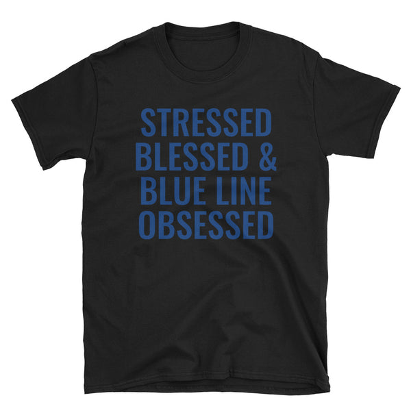 Blue Line Obsessed T-Shirt