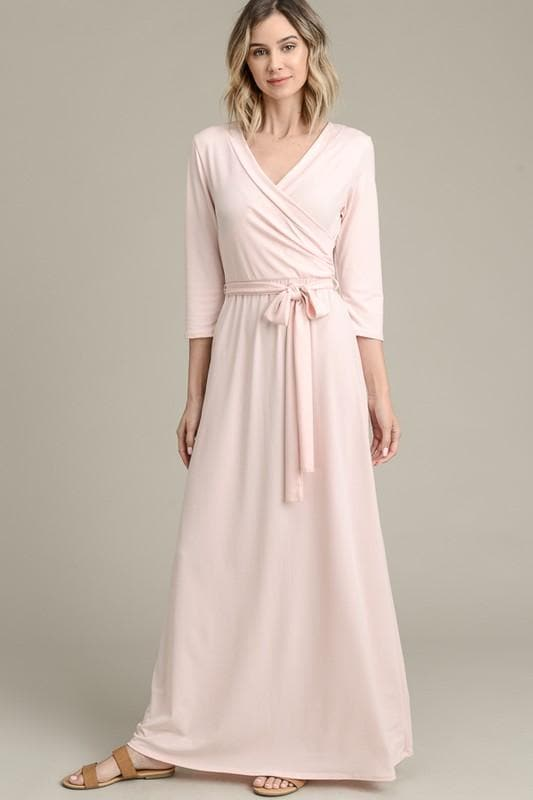 3c040ae520 Emily's Solid Wrap Maxi Dress - Vanilla Bay ...