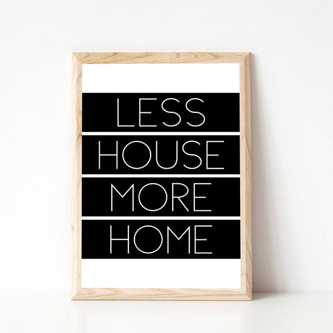 LESS HOUSE MORE HOME A3 (297x420mm)