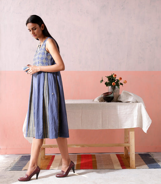 Box Pleated Khadi Dress