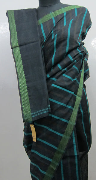Silk cotton striped sarees