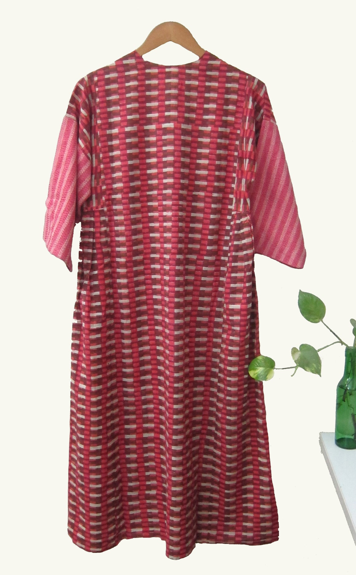 Printed Cotton Slub Hand Woven Dress