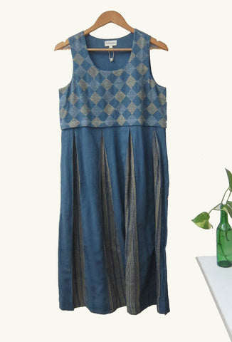 Box Pleated Hand Woven Dress