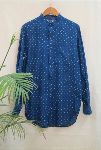 Indigo Hand-block Printed Long shirt